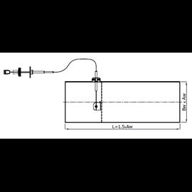 Ovládaná klapka – kanál (150 mm x 50 mm)