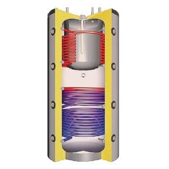 Schindler+Hofmann Kombinovaná akumulační nádrž se dvěma výměníky THKE/R2