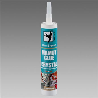 Lepidlo MAMUT GLUE CRYSTAL (04.38) kartuše 290 ml Transparentní