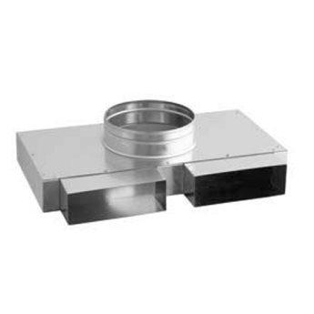 Přechodka – 2 x kanál / ohebné potrubí 125 x 50 mm / 2x 200 x 90 mm