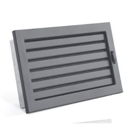 STYLE s uzavíratelnou žaluzií 450 x 240 mm černá