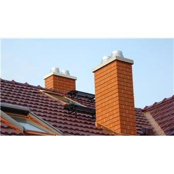 Schiedel Ukončení komínů nad střechou