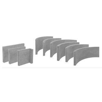 GBP Akumulační deska rádius R50 - R 500, 300 x 40 mm / 3ks v kruhu