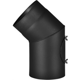Koleno 1,5 mm - pevné s čistícím otvorem pr.150 (45°)