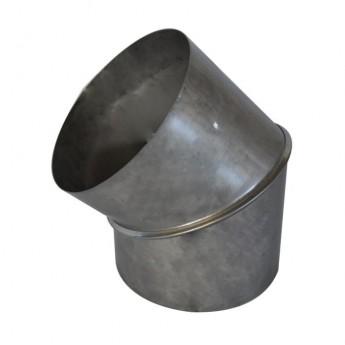Koleno nerez 2-segmentové 0-45° Ø150
