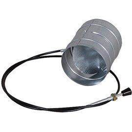 Ovládaná klapka se silikonovým těsněním - 125 mm