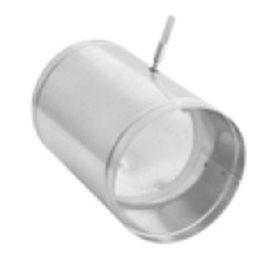 Ovládaná klapka se silikonovým těsněním zakončená čtyřhranem - 125 mm