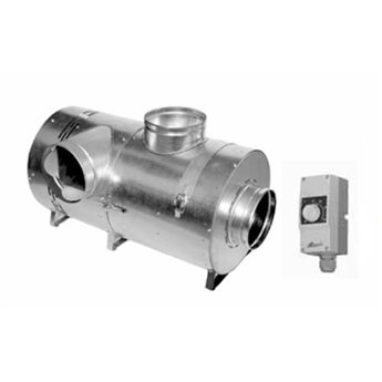 Teplovzdušný ventilátor s bypassem BANANeco 1