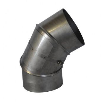 Koleno nerez s čisticím otvorem 0-90° Ø150