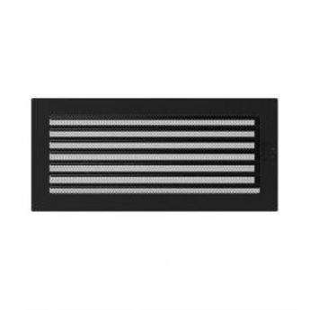 KRATKI ventilační krbová mřížka 17x37 černá se žaluzií