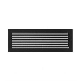 KRATKI ventilační krbová mřížka 17x49 černá se žaluzií