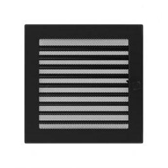 KRATKI ventilační krbová mřížka 22x22 grafit se žaluzií