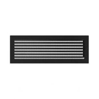 KRATKI ventilační krbová mřížka 22x45 černá se žaluzií