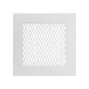 KRATKI ventilační krbová mřížka 17x17 bílá