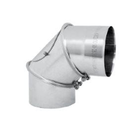 Kouřovod Koleno 90° regulované s čistícím otvorem Ø150 mm (Karl)