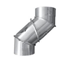Kouřovod Koleno regulované 4 segmentové s čistícími otvory Ø250 mm (Karl)