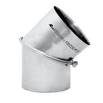 Kouřovod Koleno 45° regulované Ø150 mm (Karl)