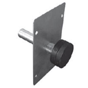 Samostatné ovládání komínové klapky - Round (Karl)