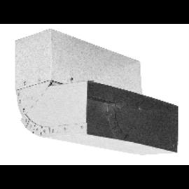 Nastavitelné koleno stěna-strop 45°– 90° – kanál (150 mm x 50 mm)