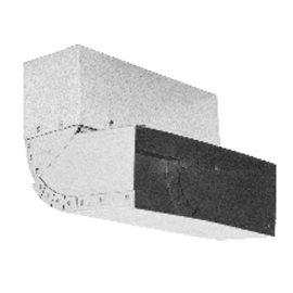 Nastavitelné koleno stěna-strop 45°– 90° – kanál (200 mm x 90 mm)
