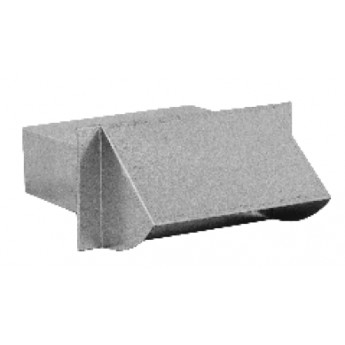 Mřížka pro přívod externího vzduchu – kanál, bílá barva (150 mm x 50 mm)