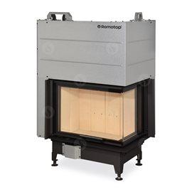 ROMOTOP Heat R/L 3g L 65.51.40.01 - Teplovzdušná rohová krbová vložka s výsuvnými dvířky a ohýbaným sklem