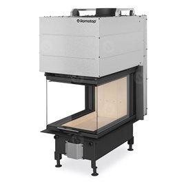 ROMOTOP Heat U 3g L 50.52.70.21 - Teplovzdušná třístranná krbová vložka s výsuvnými dvířky a děleným sklem