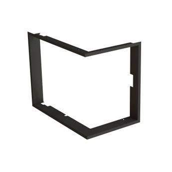 BeF Zazdívací rámeček 1x90° černý BeF Aquatic WH (V) 60 CP/CL/, (V) 65 CP/CL/