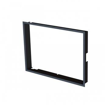 Zazdívací rámeček 1x90° černý BeF Aquatic WH (V) 80, (V) 85