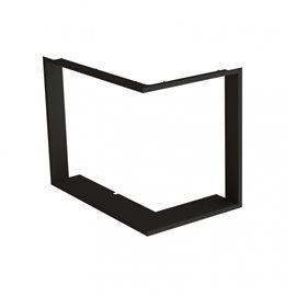 Zazdívací rámeček 1x90° hloubka 60mm, černý BeF Therm V 8 CP/CL
