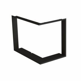Zazdívací rámeček 1x90° hloubka 60mm, černý, BeF Twin (V) 10 (N) II