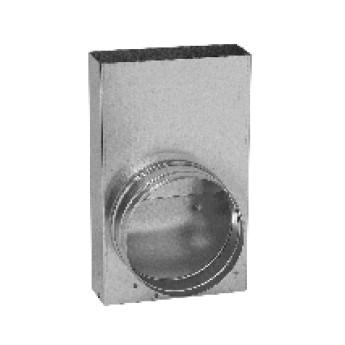 Přechodka – kanál / ohebné potrubí (350 mm x 70 mm, 2x Ø125 mm)