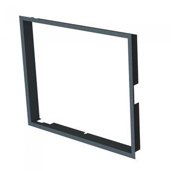Zazdívací rámeček 1x90° hloubka 60mm, černý BeF Therm (V) 6