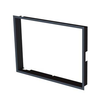 Zazdívací rámeček 1x90° hloubka 60mm, černý BeF Therm (V) 7