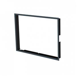 Zazdívací rámeček 1x90° hloubka 80mm, černý, BeF Passive