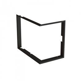 Zazdívací rámeček 1x90° hloubka 80mm, černý, BeF Passivel rohová