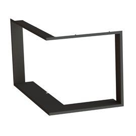 Zazdívací rámeček 1x90° hloubka 80mm, černý BeF Therm (V) 10 CP/CL