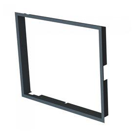 Zazdívací rámeček 1x90° hloubka 80mm, černý BeF Therm (V) 6