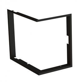 Zazdívací rámeček 1x90° hloubka 80mm, černý BeF Therm (V) 7 CP/CL