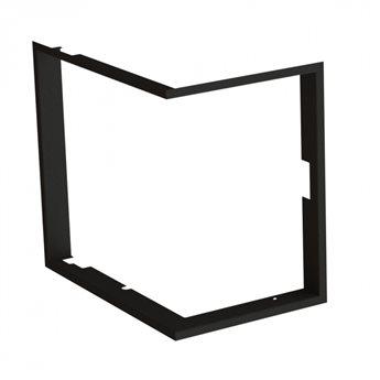 Zazdívací rámeček 1x90° hloubka 60mm, černý BeF Therm (V) 6 CP/CL