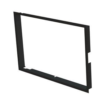 Zazdívací rámeček 1x90° hloubka 80mm, černý, BeF Twin (V) 10 II