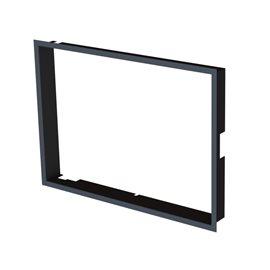 Zazdívací rámeček 1x90° hloubka 80mm, černý, BeF Twin (V) 8 II