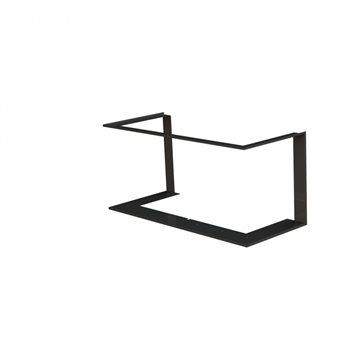 Zazdívací rámeček 1x90° černý BeF Trend V10C