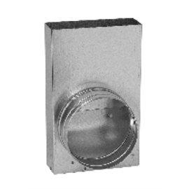 Přechodka – kanál / ohebné potrubí (350 mm x 70 mm, Ø180 mm)