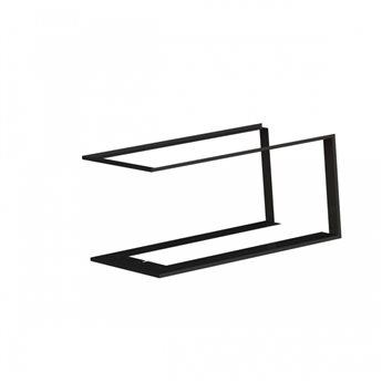 Zazdívací rámeček 1x90° černý BeF Trend V10U