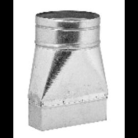 Redukce – kanál / ohebné potrubí (150 mm x 50 mm, Ø100 mm)