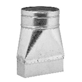 Redukce – kanál / ohebné potrubí (150 mm x 50 mm, Ø150 mm)