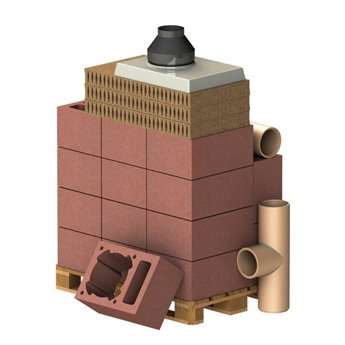 ALMEVA Komplet komín CLASSIC 1V, DN 180, 90°, základní set