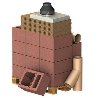 ALMEVA Komplet komín CLASSIC 1V, DN 180, 45°, základní set