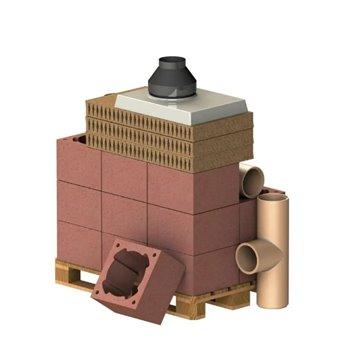 ALMEVA Komplet komín CLASSIC, DN 140, 90°, základní set